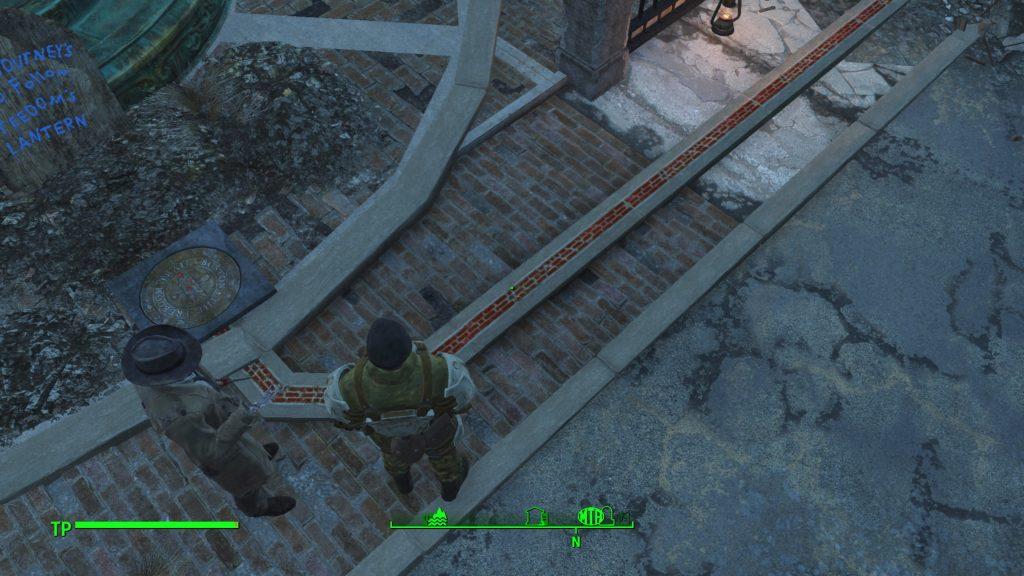 So sieht der Freedom Trail von oben aus: Folgt den roten Ziegelsteinen.
