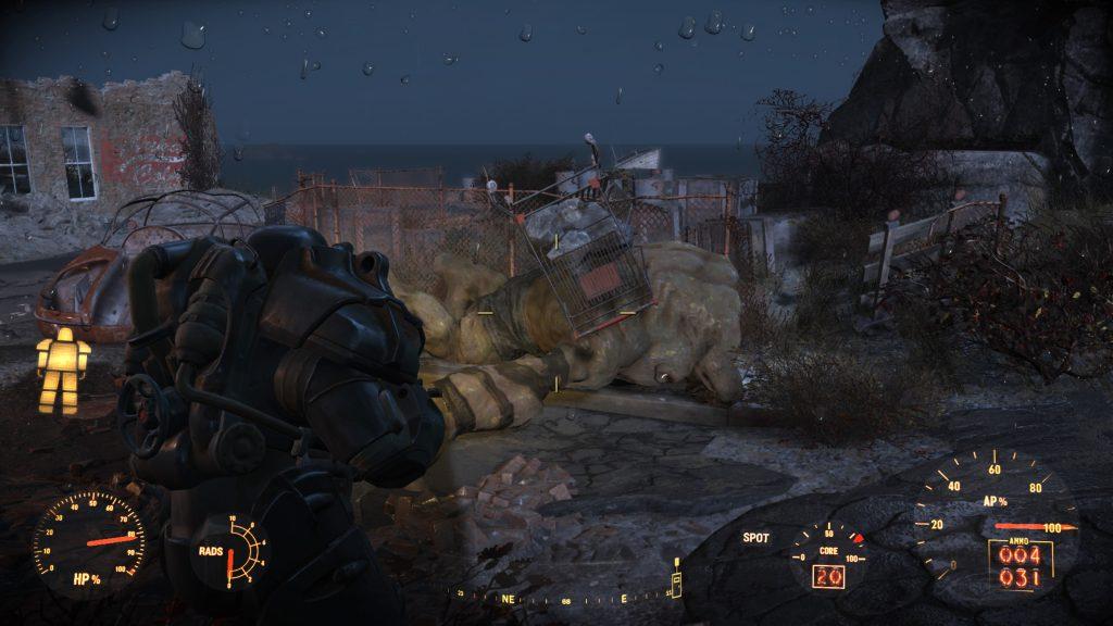 Den Behemoth solltet ihr besser vor der Landung mit der Minigun des Vertibirds erledigt haben.